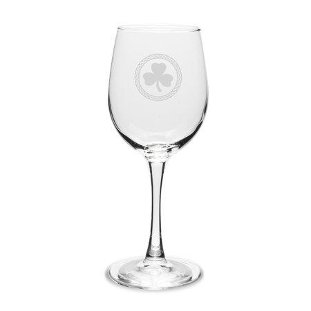 Shamrock Celtic Logo 12 oz Classic White Wine Glass