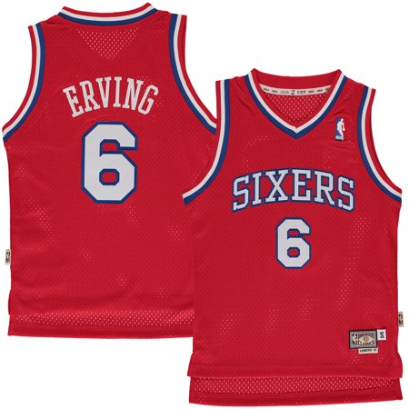big sale 3cb34 cae13 Julius Erving Philadelphia 76ers Mitchell & Ness Youth Hardwood Classics  Swingman Jersey - Red