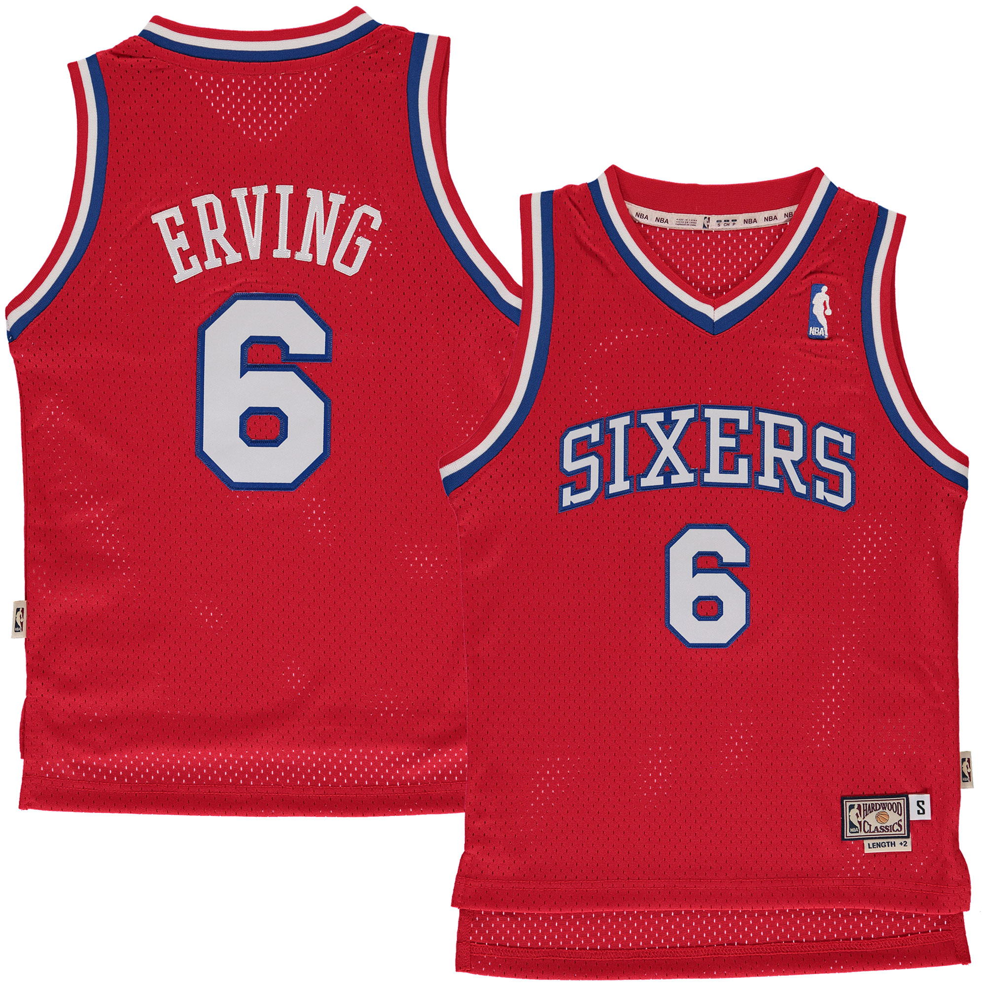 Julius Erving Philadelphia 76ers Mitchell & Ness Youth Hardwood Classics Swingman Jersey - Red