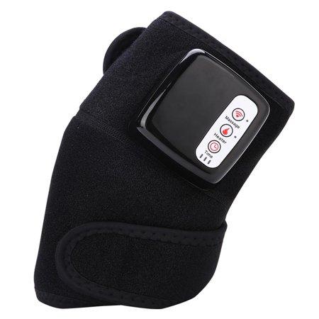 Akozon Multi-functional Heat Vibration Brace Wrap, Multi-functional Knee Massager Kneepad Rheumatism Knee Massage Therapy Tool Vibration Heat, Knee Pain