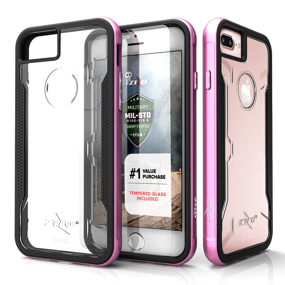 iPhone X / 8 / 8 Plus / 7 / 7 Plus Case Zizo SHOCK Tempered Glass Screen