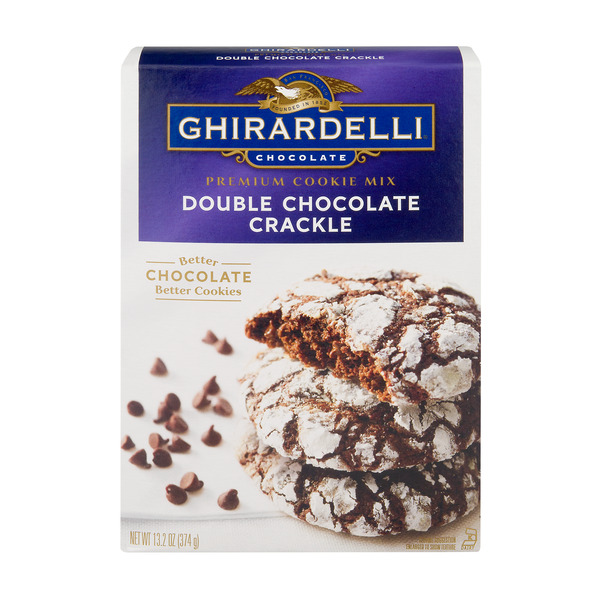 (2 Pack) Ghirardelli Premium Cookie Mix, Double Chocolate Crackle, 13.2-Ounce