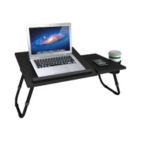 "Atlantic 24"" Adjustable Laptop Tray Table for Laptops up to 17"", Black"