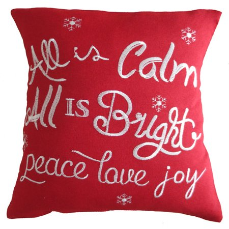 The Holiday Aisle Pulley Christmas Decorative Embroidered Burlap Pillow Cover ()