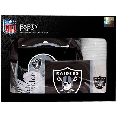 Oakland Raiders Gameday Party Pack - No Size - Oakland Raiders Party Supplies