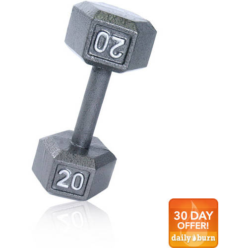 CAP Barbell Cast Iron Hex Dumbbell, Single by Cap Barbell