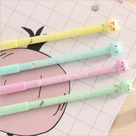 4pcs Cute Cartoon Cat Gel Ink Pens School Supplies Students Children Gift](Cute School Supplies Online)