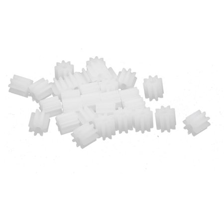 - 30PCS 8 Teeth 1.5mm Hole Diameter Plastic Gear Wheel for RC Toy Car