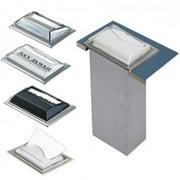 San Jamar H2001SC Full fold Counter Napkin Dispenser, Satin Chrome by SAN JAMAR