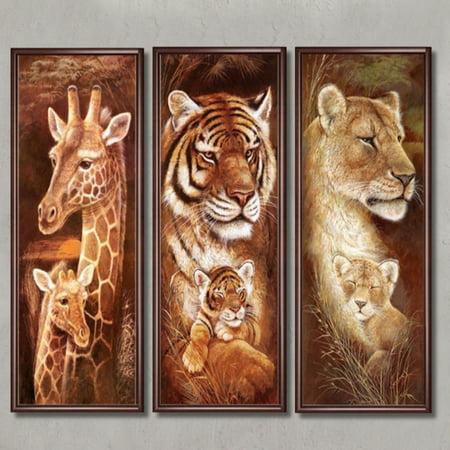 Mrosaa DIY 5D Diamonds Painting Kit Full Drill Animal Wall Art Embroidery Cross Stitch (Art Cross Stitch Kit)