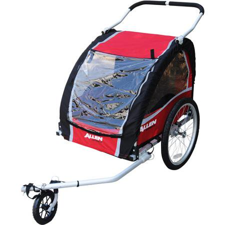 Allen Sports AST200 2-Child Bicycle Trailer/Stroller - Walmart.com