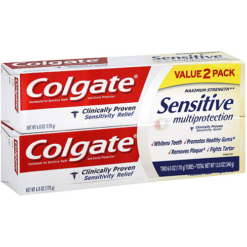 Colgate Sensitive Multiprotection Toothpaste, 6 oz (Pack of, 2)