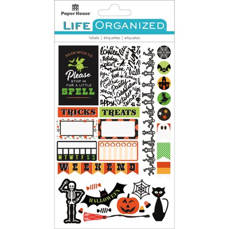 Paper House Life Organized Planner Stickers  -Halloween Fun
