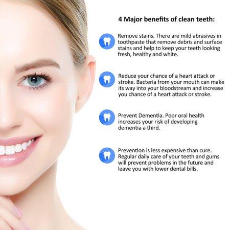 Chainplus Oral B 3D Replacement Brush Heads, Complete Care Replacement Tooth Brush Heads, 4 Count, EB18-P - image 5 de 8