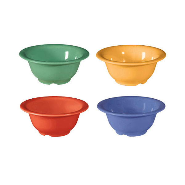 Diamond Mardi Gras 10 oz 5.5 x 2.25 Bowl Mix Pack of 4 Mardi Gras Colors Melamine/Case of 48