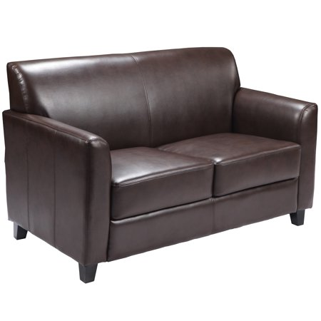 Flash Furniture HERCULES Diplomat Series Brown LeatherSoft Loveseat