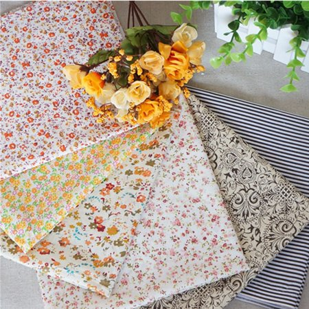 16pcs DIY Non-repeat Mixed Color Fabric Bundles Fat Quarters Polycotton Material Florals Gingham Spots Craft Tools 25 x - Green Fat Quarter Bundle