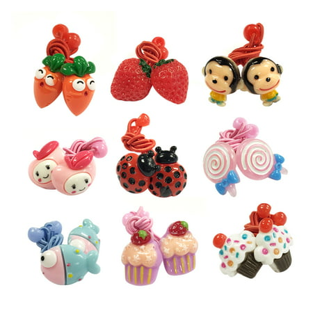 Wrapables® Juicy Playful Elastic Hair Ties Hair Accessories for Toddler Girls (Set of 18) - Hair Accessories For Girls