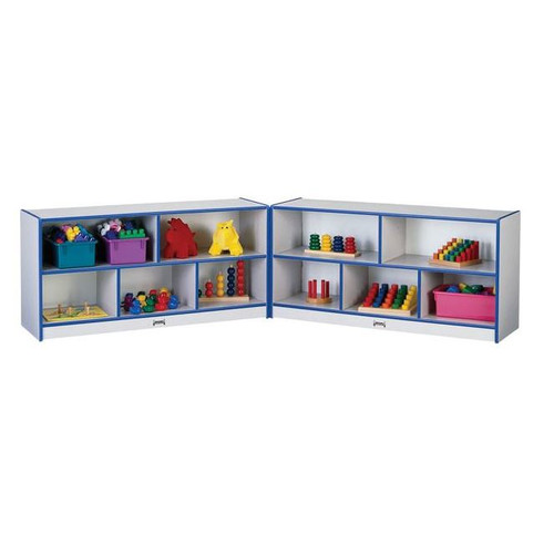 Jonti-Craft Rainbow Accents Low Fold-n-Lock 10 Compartment Shelving Unit