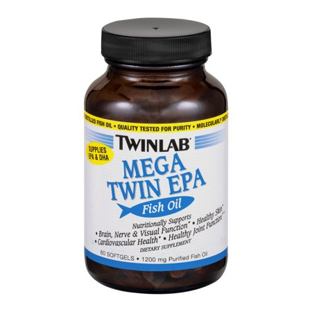 Twinlab Mega Twin EPA Fish Oil Dietary Supplement Softgels - 60 CT