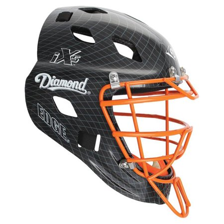 Diamond DCH-Edge Pro Catcher's Helmet Small - Black Orange