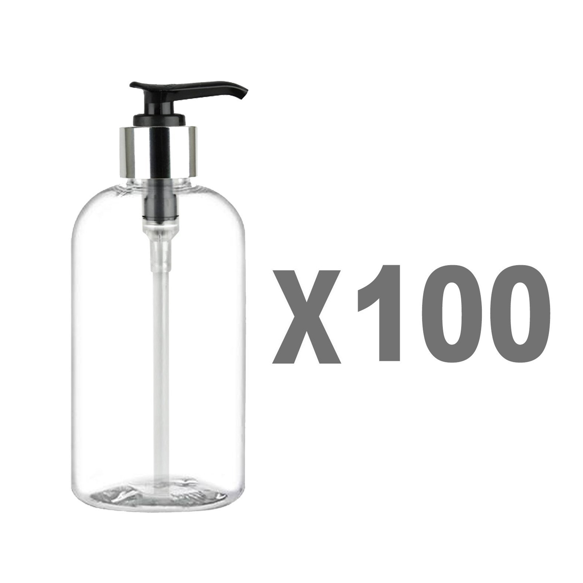 cc41e2734427 MoYo Natural Labs 8 oz Pump Dispenser, Boston Round Empty Soap Lotion Pump  Bottles with Silver Tone Locking Cap, BPA Free PET Plastic Containers for  ...