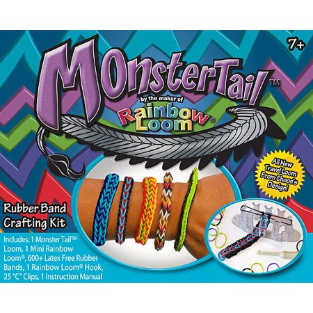 Wonder Loom Monster Tail Rubber Band Crafting Kit, 1 (Own Monster Kit)