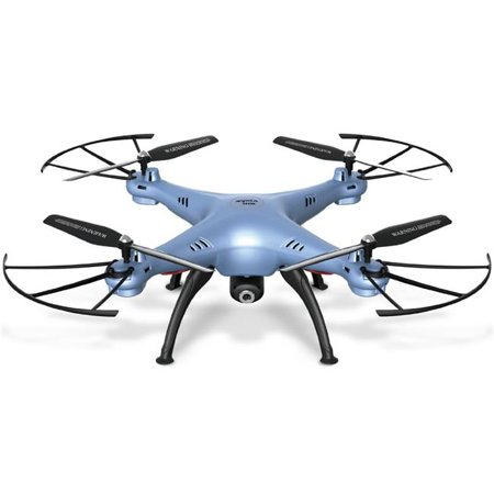 Azimport X5hw Blue Syma X5hw I Wi Fi Fpv Drone With Hd Camera Live Video Altitude Hold Function 2 4 Ghz   4Ch Rc Quadcopter   Blue