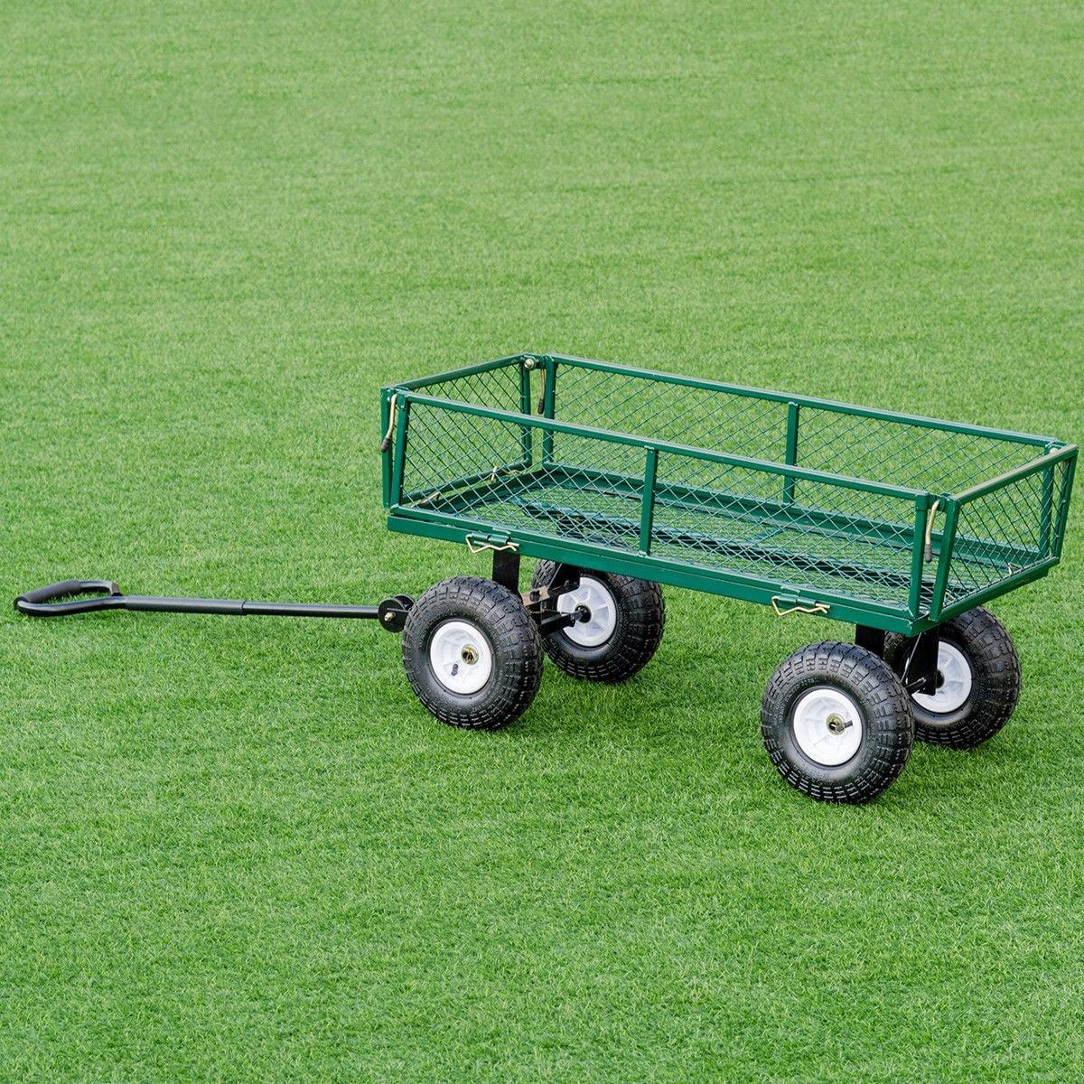 Heavy Duty Garden Utility Cart Wagon Wheelbarrow by