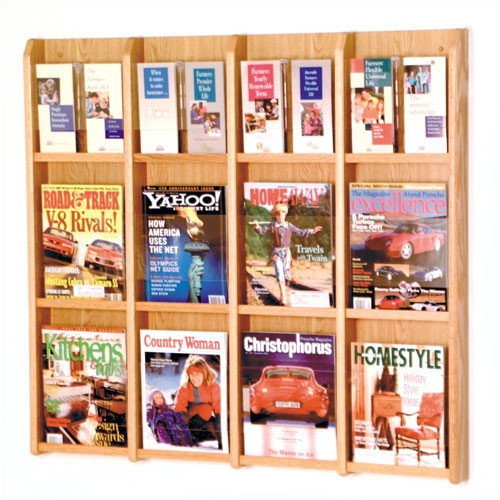 Wooden Mallet 12 Magazine / 24 Brochure Wall Display