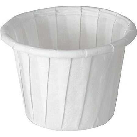 Solo Souffle Cup White Paper Disposable .75 oz., 10 Sleeves of 250 - Souffle Cups