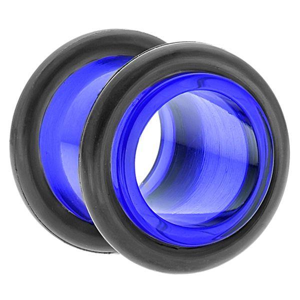 "Blue Acrylic Tunnel Plug / Earlet Ear Plug 10G - 1"" (2.5mm - 25mm) - Sold Individually"