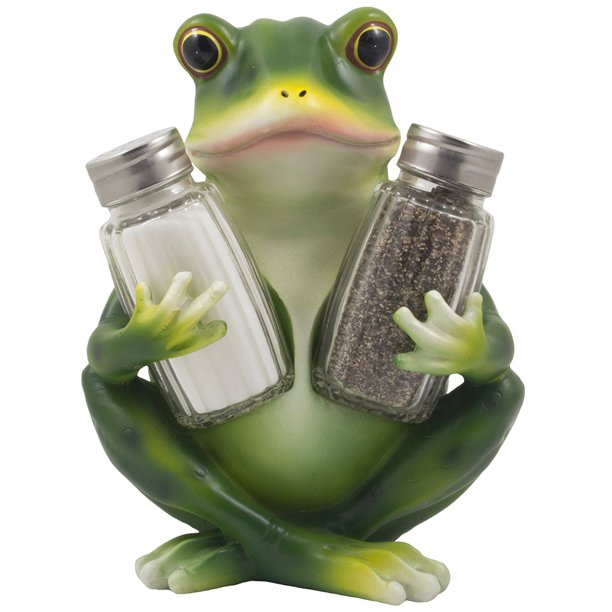 Frog Salt And Pepper Shaker Set Figurine With Decorative Display Stand For Cottage Kitchen Decor As Mother S Day Gifts For Mom Walmart Com Walmart Com