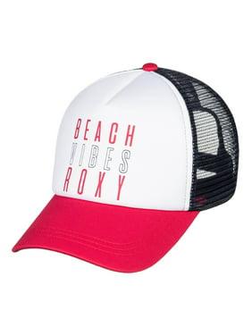 Roxy Womens Truckin 2 Snapback Trucker Hat - White/Red/Navy