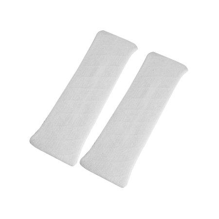 Unique Bargains 2 Pcs White Elastic Fabric Strecthy Headband Hair Binding Band for Woman](White Headband)