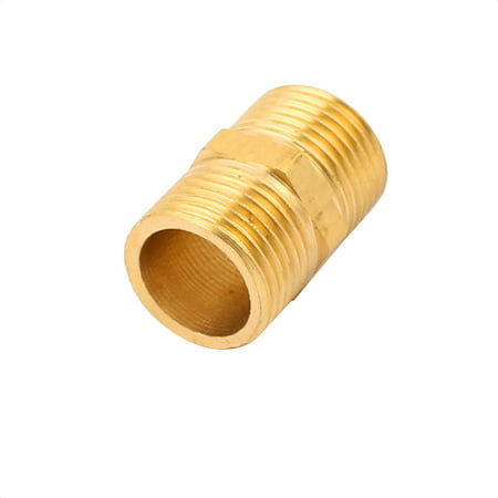 3/8BSP to 3/8BSP Male Thread Brass Pipe Hex Nipple Fitting Quick Adapter