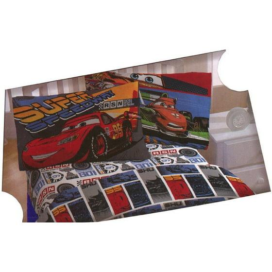 Disney Cars 4pc Full Size Sheet Set Lightning McQueen