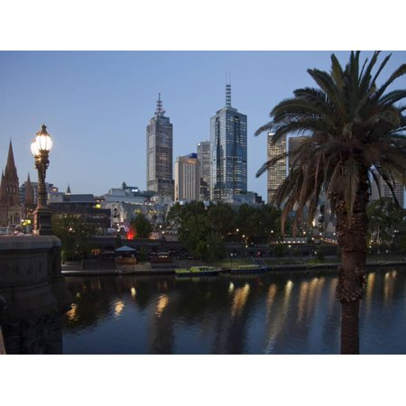 St. Paul's Cathedral, City Centre and Yarra River at Dusk, Melbourne, Victoria, Australia, Pacific Print Wall Art By Nick Servian