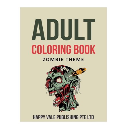 Adult Coloring Book: Zombie Theme (Paperback) for $<!---->
