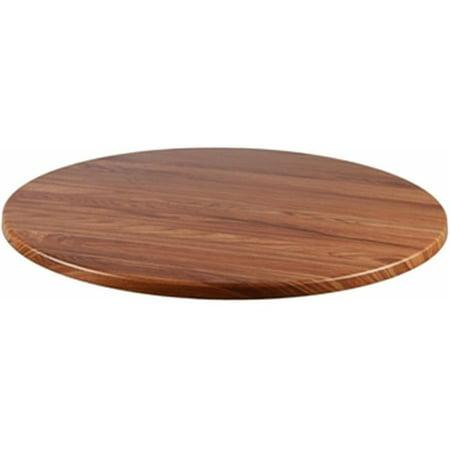 Teakwood Round Top - Source Contract SC-2601-421-TEK 24 in. Duratop Round Table Top, Teak