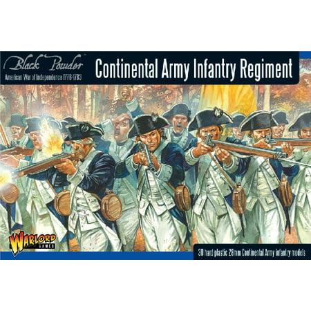 28mm Black Powder: Continental Infantry Regiment 1776-1783 (30) (Plastic) -  Walmart com