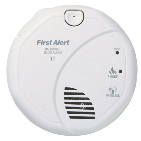 Combination Interconnect (SA521CN Interconnected Hardwire Wireless Smoke Alarm with Battery Backup, RF Interconnect offers a reliable and secure radioWalmartmunication between alarms By First Alert )