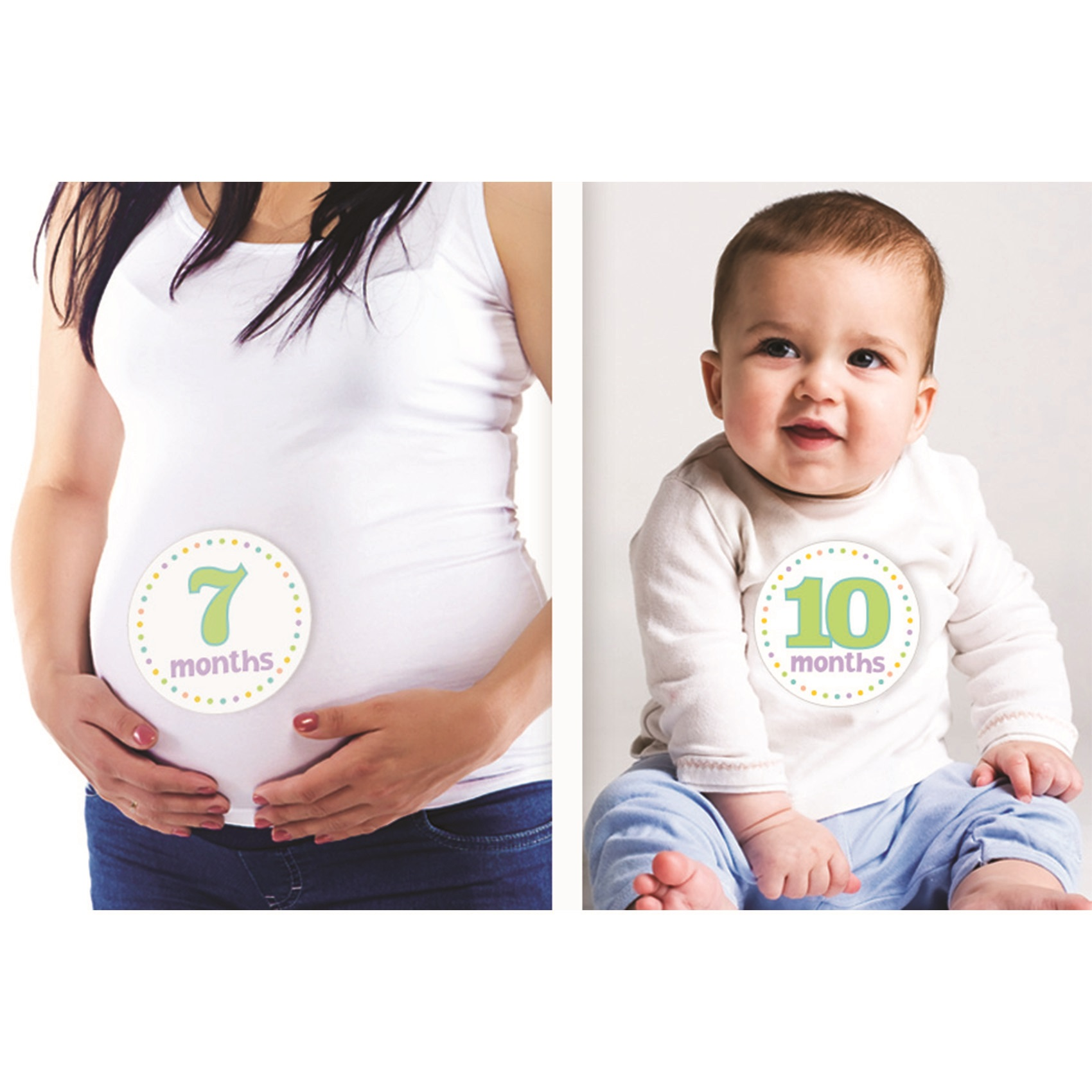 Baby Month by Month Stickers 12 count Walmart