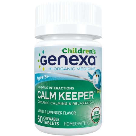 Genexa Homeopathic Calming Aid Chewable Tablets for Children, 60 Ct