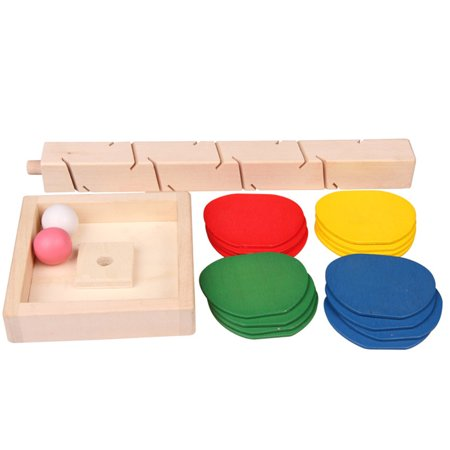 Children Educational Building Blocks Wooden Tree Marble Ball Run Track Game Toys Gifts for Kids - image 3 de 6