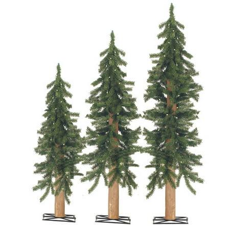 Sterling Inc. 3 Piece Alpine Green Cedar Artificial Christmas Tree Set 110  Clear & White - Sterling Inc. 3 Piece Alpine Green Cedar Artificial Christmas Tree
