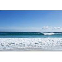Waves Breaking at Beach Ocean Photo Print Wall Art By Norbert Schaefer