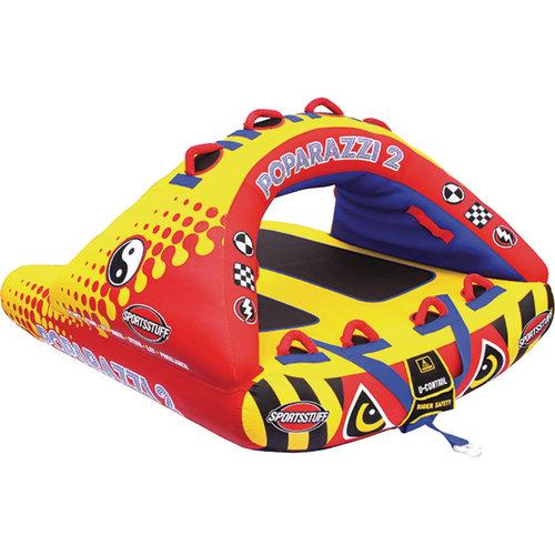 Sportsstuff 53-1752 Poparazzi 2 Inflatable Towable 1-2 Rider by Kwik Tek