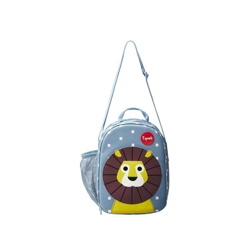 3 Sprouts Insulated Lunch Bag For Kids Reusable Tote With Shoulder Strap Handle And Pockets Lion Walmart Canada