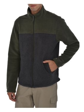Swiss Alps Men's Polar Fleece Full Zip Jacket
